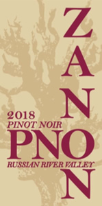 2018 Zanon Pinot Noir Russian River Valley