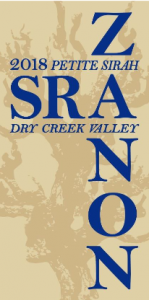 2018 Zanon Petite Sirah Dry Creek Valley